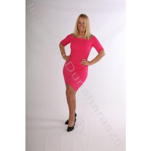 Mystic Day Pink Csipkés Linett ruha - S